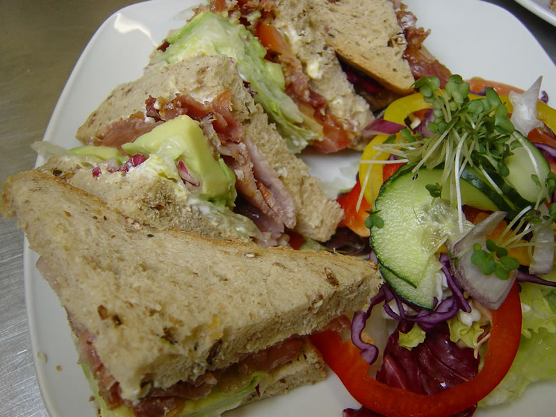 Sandwiches at the Old Crown Pub Weybridge Surrey