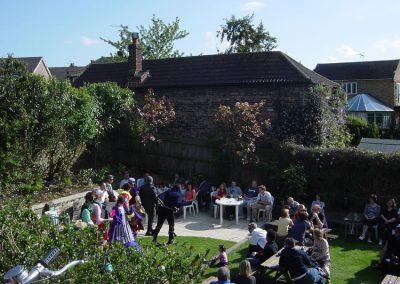 Social Event in Riverside Pub Garden - The Old Crown Weybridge Surrey
