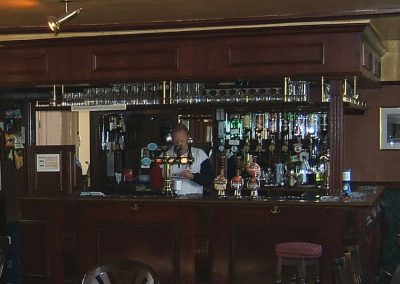 Old Crown landlord Mark Redknap in bar of Old Crown pub Weybridge